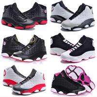 2021 NOUVEAU 13S Sneakers de joueurs de joueurs de chats noirs Bred Flint Kids Basketball Chaussures bébé 13 Big Boy Girl Enfants Formateurs