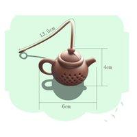 Théière en silicone Filtre à thé de théière Nettoyage en toute sécurité Infuser Thé Réutilisable / Présentage à café Fuite de thé Fu Veaks Accessoires de cuisine 225 N2
