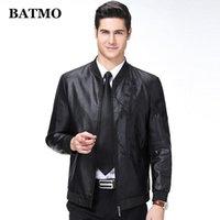 Мужской меховой FUX BATMO 2021 Прибытие Весна Высокое Качество Кожаные Куртки Мужчины, Мужские Повседневные вышитые куртки, 81881