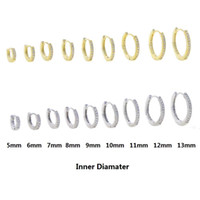 Divers Mini petite taille CZ Huggie Boucle d'oreille Micro Pave Cubic Zirconia 5mm 6mm 7mm 8mm 9mm 9mm 10mm 12mm 12mm Hoops Bijoux