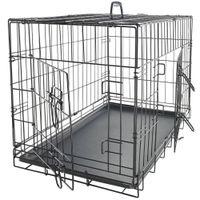 Fournitures de chien Chenil de compagnie Cat Pliant en acier Crate Crate Animal PlayPen Terre Métal Maisons de Kennels Accessoires