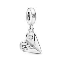 2020 Authentic ALE 925 Sterling Silver Heart Paper Plane Dan...
