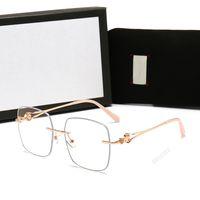 GUCCI Dessinger Square Sonnenbrille mit Stempel UV400 Full-Rahmen-Sonnenbrillen für Frauen Männer Mode-Accessoires Hohe Qualität