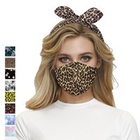 2 in 1 Face Mask Red Plaid Face Masks Headband Sunfiower Leo...