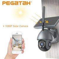 1080p Solar Outdoor Security Cameras Überwachungskamera Outdoor Wifi IP-Kamera Wireless Security Solar Battery1