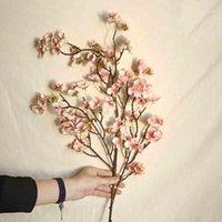 97см Искусственная вишневая пружина сливы персик Blossom ветвь шелковый цветок декор CD1