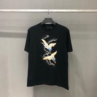 남성 T 셔츠 여름 탑스 라운드 넥 멋진 편지 인쇄 캐주얼 패션 티셔츠 대형 T 셔츠 M-4XL