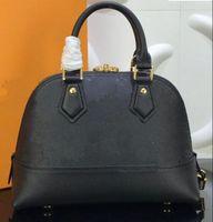 2021 Yeni Alma BB Kabuk Çanta Yüksek Kalite Kabartmalı Hakiki Deri Omuz Çantaları Klasik Kadın Ünlü Marka Tasarımcısı Çanta Çek Çantası 44829