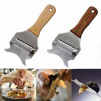 سكاكين المطبخ الفولاذ المقاوم للصدأ الكمأة القاطع الشوكولاته المساحة الشوكة على شكل الجبن المخصفين شكل الأسنان الغراس أداة مقبض خشبي 112 P2
