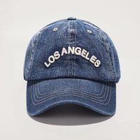 Primavera Nuevas gorras de béisbol de mezclilla Los Ángeles Retro BaseTalcaps Unisex Casual Bordery Sombrero Envío Gratis por DHL