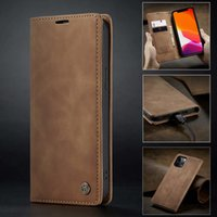 iPhone 12 Pro Max 11 Pro XS Max XR X 8 7 6S 6 Plus를위한 CaseMe Vintage Leather Flip Stand Wallet 케이스