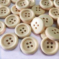 Nähen Vorstellungen Werkzeuge Massivfarbe Runder Knopf Hohe Qualität Vier Loch Holzschnalle DIY Bekleidungszubehör Button1