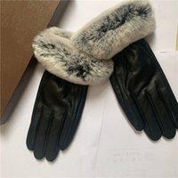 Moda Kış Eldiven Kadın Dokunmatik Ekran Tavşan Saç Sıcak Cilt Eldiven
