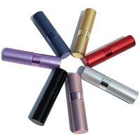 8ml tragbare Teleskop-Rotary-Spray-Flasche Aluminiumoxid-Parfüm-Leer-Flasche-Parfüm-Diffusor-Make-up-Atommizer-Spray-Abfüllrohr 8 L2