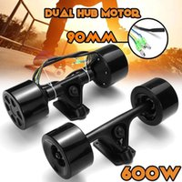 600W 90mm Dual Drive Scooter Nabenmotor Kit High Power DC Brushless Rad Motor Fernbedienung für elektrische Skateboard Longboard1