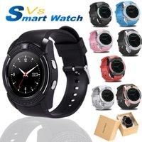 Smart Watch V8 Bluetooth Sportuhren Frauen Damen rel Gio mit Kamera SIM Kartenschlitz Android Telefon PK DZ09 Y1 A1
