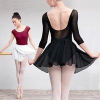 Etapa desgaste adulto mujeres niñas niños gasa danza falda ballet tutu gimnasia skate wrap Práctica básica