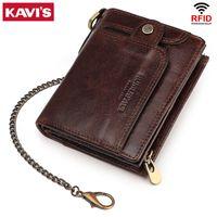 KAVIS бренд повседневная мужская кошелек классический стиль натуральная кожа короткая мужская кошелек многофункциональный держатель карты деньги сумки качества новое