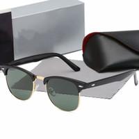 2020 Luxo Nova Marca Polarizada Óculos de Sol Homens Mulheres Piloto Piloto Óculos de Sol UV400 Óculos Óculos De Metal Quadro Polaroid Lens 3016