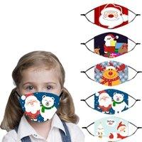 Máscara Designer Partido Decoração Feliz Natal para as crianças Presentes bonitos do Natal Reutilizável Moda Máscara Facial 2021 festa de Ano Novo Supplies
