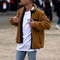 Mens Jacket 겨울 따뜻한 남성 겨울 두꺼운 후드 탑 솜털 양털 모피 재킷 후드 코트 겉옷 긴 소매 카디건