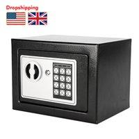 Estoque em nós uk mini mini senha eletrônica segurança caixa teclado bloqueio stretbox caixa caixa de caixa com chave dropshipping