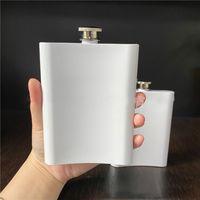 8 oz boş süblimasyon şişesi taşınabilir 304 paslanmaz çelik hip şişesi flagon viski şarap alkol şişesi vt1930