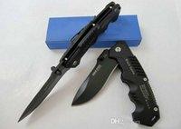 Promoção !! Alta Qualidade de aço frio Hy217 faca de bolso dobrável faca de lâmina preto 20 cm camping facas alça de aço
