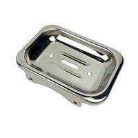 Sabonetes de aço inoxidável caixa Houseware Houseware Soap Prato Prato Acessórios de Banheiro Sabão Suporte de Metal Sabão Holder Prato Prato 37 J2