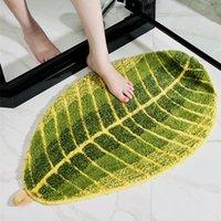 Folha-em forma de decoração de casa tapete de banheiro esteira de banho tapete de banho tapete macio tapete tapete para banheiro capacete de absorção de água