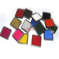 Dhl Fedex Бесплатная доставка Новый 15 цветов Craft Ink Pad Красочный мультфильм Ink Pad для различных видов марок, 500шт / много