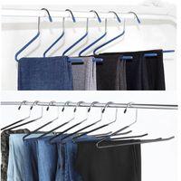 S Şekilli Paslanmaz Çelik Askıları Kaz Şekli Pantolon Raf Depolama Kaymaz İleri Ters Kanca Pantolon Askı Ev 1 78RM G2