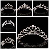 Düğün Olay için Trendy Shining Rhinestone Taç Kız 'Gelin Tiaras Moda Taçlar Gelin Aksesuarları YHM941-ZWL