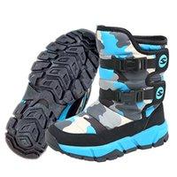 Erkek Kız Su Geçirmez Kar Botları Sıcak Çizgili Kış Ayakkabı Çocuklar Için (Yürüyor / Küçük Çocuk / Büyük Çocuk)
