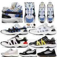 2021 con scatola Best B25 B24 Obliquo Runner Sneaker Uomini Piattaforma Platform Designer Black White Suede in pelle scamosciata Scarpe da ginnastica in pelle scamosciata