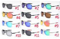 여름 남자 금속 편광 된 태양 안경 여성 야외 운전 선글라스 유니섹스 안경 해변 사이클링 안경 Dazzle 12 컬러 무료 배송