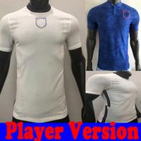 كرة القدم جيرسي إنجلترا لاعب نسخة 2020 Kane الاسترليني Vardy Rashford Dele 20 21 National Football Shirt Men + Kids Kit Origs 2021