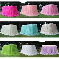 Snow yarn table gonna matrimonio torta di compleanno check-in scrivania a colori solido tavoli da dessert copertura tenda cortina surround grigio tovaglia nuovo 30LD M2