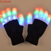 LED blinkende Handschuhe Bunte Flash Finger Light Handschuh Weihnachten Halloween Party Dekoration Neuheit Spielzeug