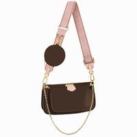 Luxurys Geldbörsen Favorit Multi Pochette Accessoires Handtasche Echtes Leder Schulter Crossbody Bag 3 Stück Geldbörse Taschen