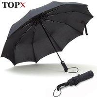 Topx New Big Form Forby Fashion Antivento Uomo Delicato pieghevole Compatto Compact Completo Automatico Pioggia di alta qualità Ombrello Pongee Women 201104