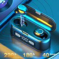 F9-43 سماعات لاسلكية TWS سماعات بلوتوث V5.1 9D سماعة الرياضة الألعاب سماعات الأذن آيفون 11 12 Samsung العالمي
