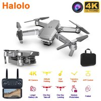 Halolo E68 WIFI FPV Mini Drone With Wide Angle HD 4K 1080P C...