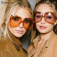 Óculos de sol emosnia 2021 rua moda vintage sqaure oversized masculino feminino grande tonalidades gradiente sol óculos protecção do olho1
