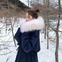 Femme's Down Parkas Zvaqs Femme Veste 2021 90% Blanc Canard Vestes Femme Real Raccoon Fourrure Col à capuche Manteaux Casaco Feminino