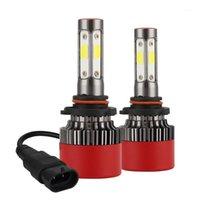 Araba Farları 4 taraf H7 LED Far Kitleri 90 W 16000LM H4 H11 9005 9006 Ampuller Güç 6000 K Beyaz Yüksek Kalite Styling1