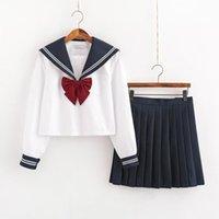 Japanische Schuluniform Rock Sailor Kleid Kostüme JK Uniform Anzug Mädchen Faltenrock Anime Schulmädchen Uniform Cosplay 201124