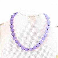 """Hot Violet Stone 6mm 8mm 10mm 12mm Facetó el collar redondo perlas 18 """"B6341"""