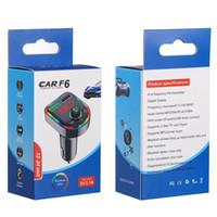 C12 C13 F5 F6 Car Bluetooth 5.0 FM Transmitter Wireless Handsfree Audio Receiver MP3 Player RGB light USB Type-c Charger