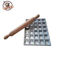 Wiilii 1 قطع الفضة الزلابية العفن رافيولي صانع الأدوات بسرعة الصحافة باستا فطيرة زلابية صنع أدوات للمطبخ أداة الطبخ T200523